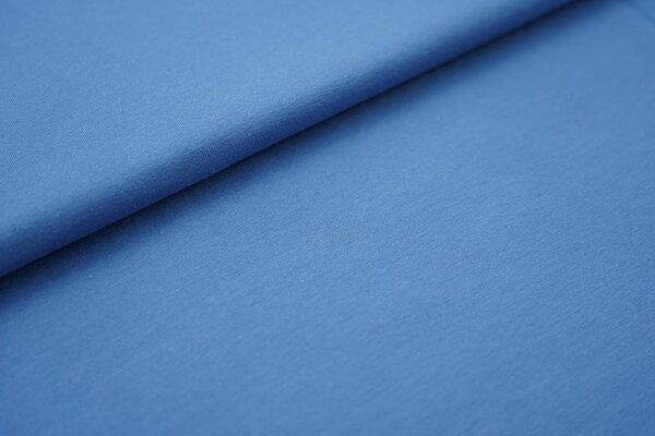 Baumwoll-Jersey einfarbig uni taupe blau