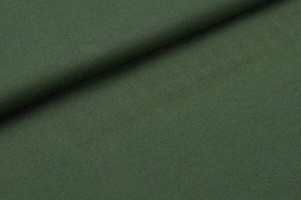 Baumwoll-Jersey uni dunkel olivgrün