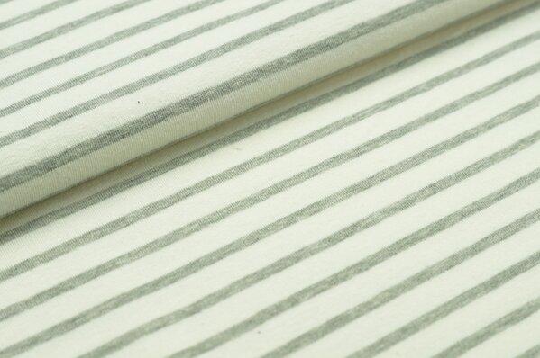 XXL Sommersweat MARIE Streifen mittel grau meliert creme