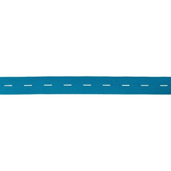 Knopflochgummi uni aqua blau 20 mm