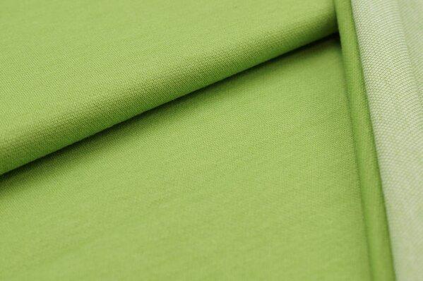 Jacquard-Sweat Ben hellgrün Uni mit hellgrün und off white Rückseite