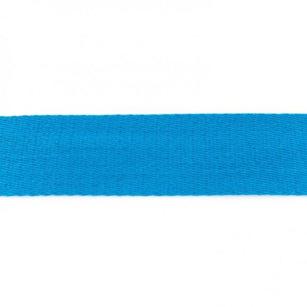 Breites Gurtband uni aqua blau 40 mm