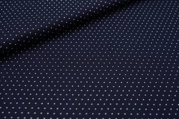 Baumwolle kleine weiße Punkte auf dunkelblau maritim