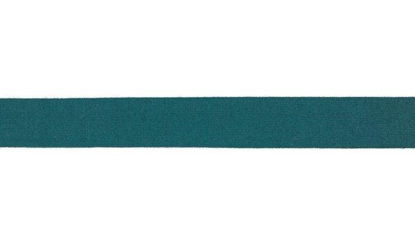 Viskose-Jersey Schrägband uni petrol 20 mm Einfassband