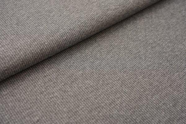 Baumwoll-Rip-Jersey einfarbig uni dunkelgrau anthrazit meliert