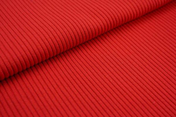Grobstrick Bündchen Schlauchware gerippt rot