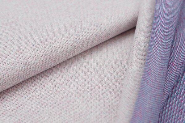 Jacquard-Sweat Ben off white Uni mit off white türkis amarant pink Rückseite