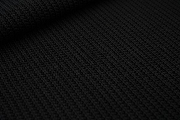 Grober Strickstoff Kabel uni schwarz Strickware