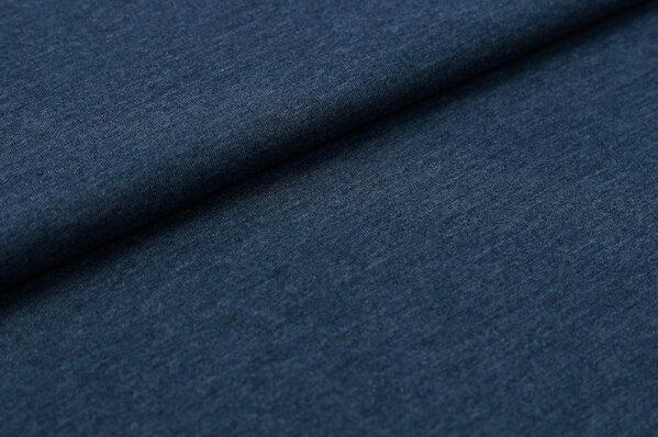 XXL Bündchen LILLY glatt Schlauchware jeansblau meliert