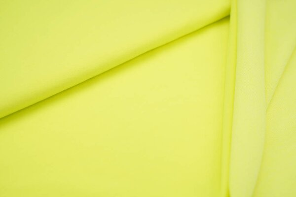 Baumwoll-Sweat uni neon gelb