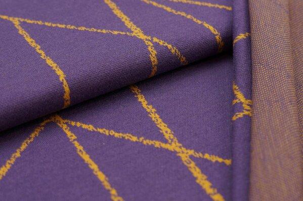 Jacquard-Sweat Ben senf Streifen auf lila