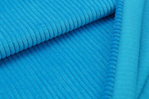 Breitcord Stoff uni blau