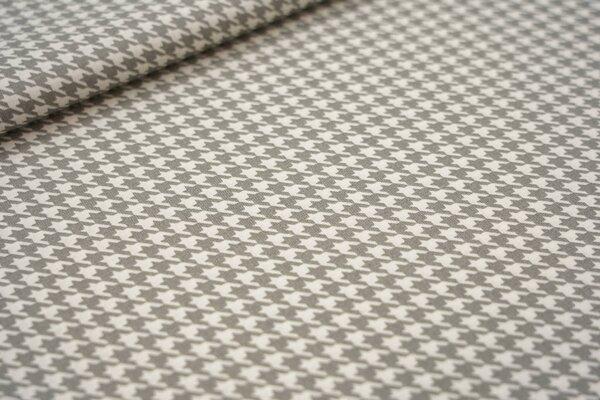 Baumwolle mit Hahnentritt-Muster grau / weiß