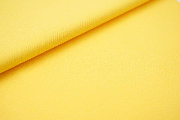 Glattes Organic Bündchen gelb