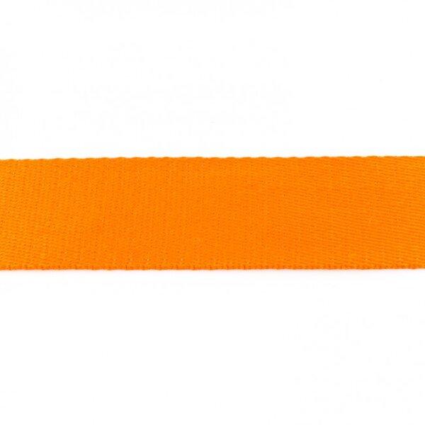 Breites Gurtband uni orange 40 mm