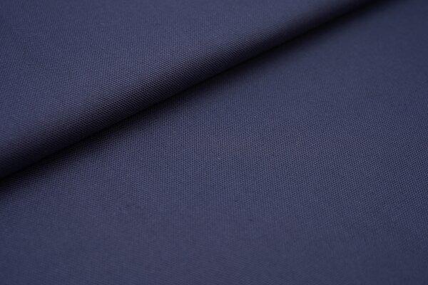 Canvas-Stoff Baumwoll Dekostoff einfarbig uni stahlblau