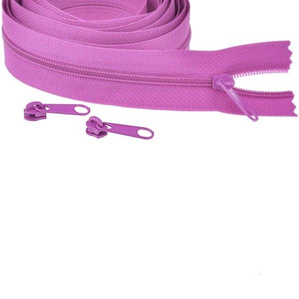 Endlos Spiral Reißverschluss uni violett lila 3 mm