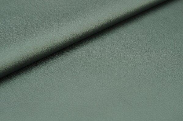Kunstleder Metallic-Effekt anthrazit grau Uni Lederimitat