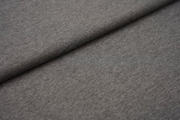Baumwoll-Jersey einfarbig uni mittelgrau meliert