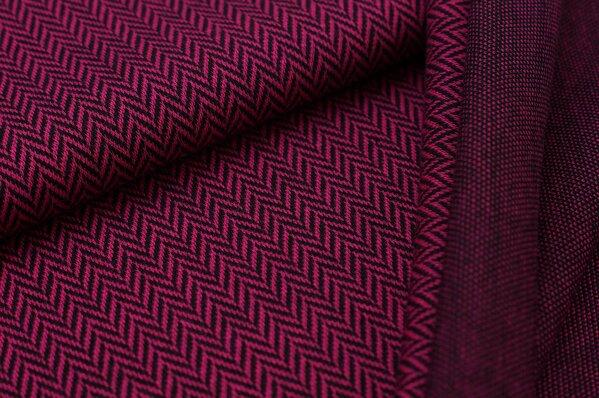 Jacquard-Sweat Ben mit Fischgrätenmuster amarant pink / schwarz