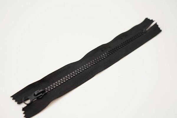 Reißverschluss schwarz nicht Teilbar 6 mm Krampenschiene Autolock Schieber 18cm