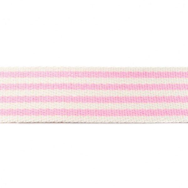 Breites Gurtband mit 4 Streifen off white / neon rosa 40 mm
