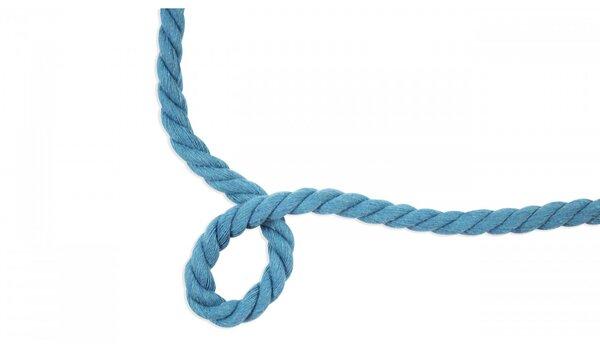 Dicke Baumwoll-Kordel gedreht rund uni türkis 10 mm breit