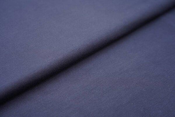 Weicher Bambus-Jersey uni navy dunkelblau