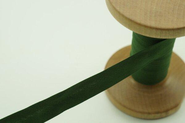Schrägband Baumwolle 1,5 cm breit uni tannengrün 6 m