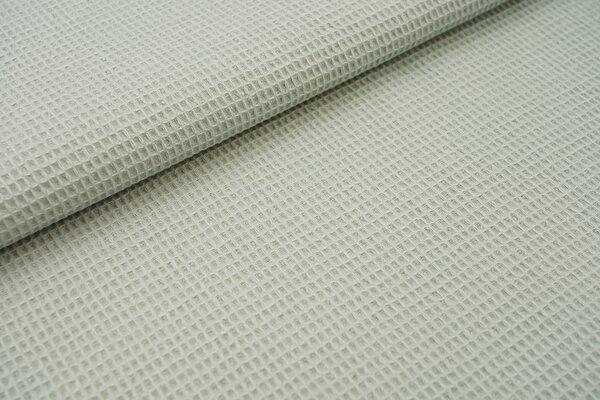 Waffelpiqué Waffelstoff uni mint Baumwollstoff mit mini Waffelmuster