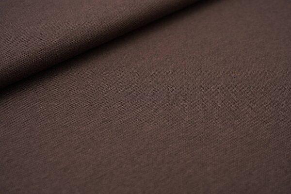 Jacquard-Sweat Ben taupe braun Uni taupe brauner und schwarzer Rückseite