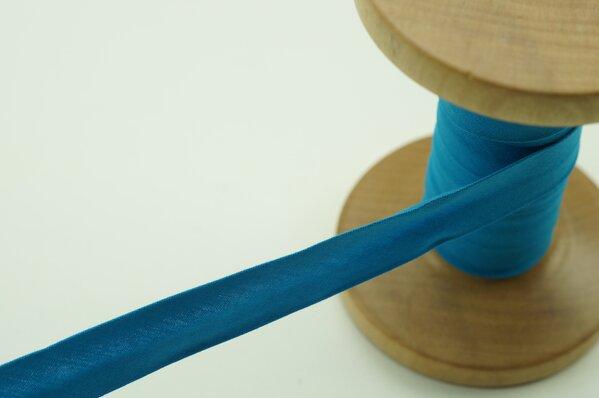 Schrägband Baumwolle 1,5 cm breit uni türkis 1 m