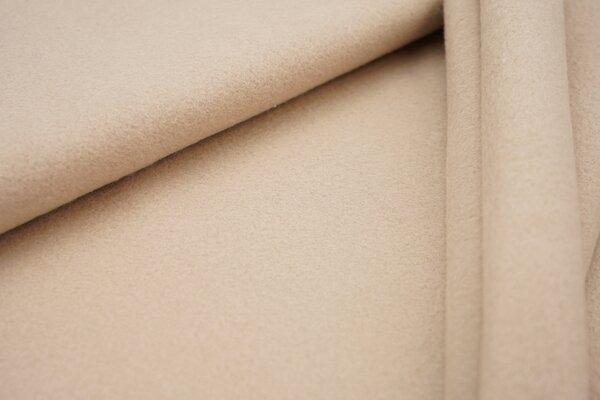 Baumwoll-Fleece uni beige