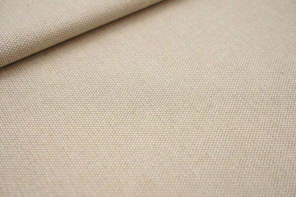 Canvas-Stoff Dekostoff Muster mit kleinen Vierecken hell beige / weiß