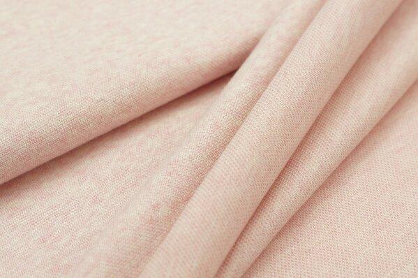 Jacquard-Sweat Mia uni pastell rosa Melange