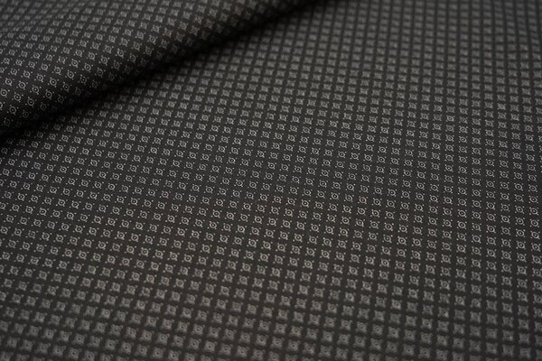 Baumwolle kleines Kreismuster mit Punkten schwarz / weiß