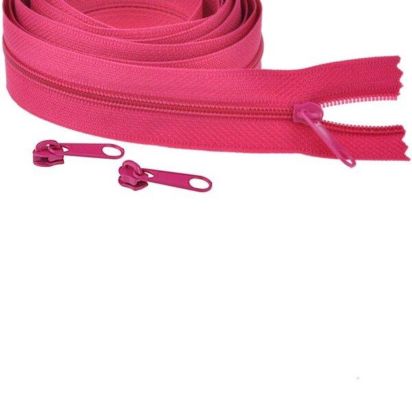 Endlos Spiral Reißverschluss uni pink 3 mm