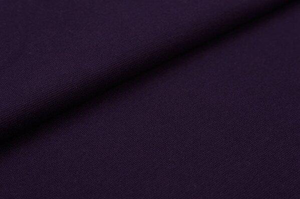 XXL Bündchen LILLY glatt Schlauchware aubergine / dunkel lila