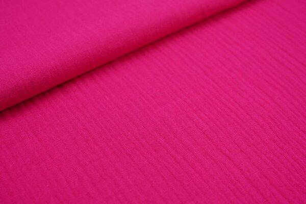 Musselin Stoff Double Gauze uni pink