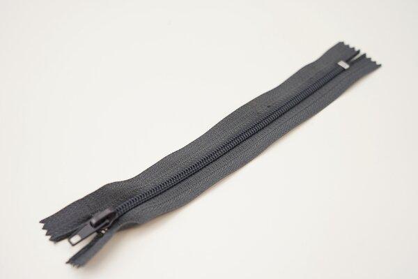Reißverschluss dunkelgrau nicht Teilbar 5 mm Spiralschiene Autolock Schieber 18cm