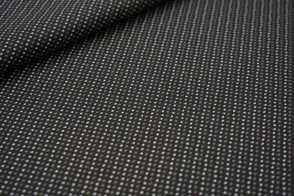 Baumwolle kleines Punktemuster schwarz / weiß / grau