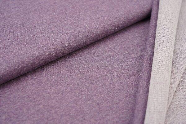 Baumwoll-Sweat uni violett meliert