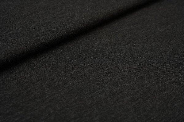 Fester Jerseystoff Romanit Jersey uni sehr dunkelgrau meliert