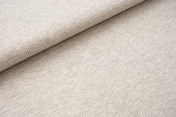 Baumwoll-Rip-Jersey einfarbig uni hellgrau melliert