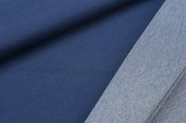 Baumwoll Jeans Jersey uni jeansblau Jeansoptik