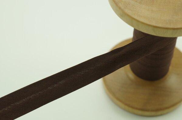 Schrägband Baumwolle 1,5 cm breit uni braun 1 m