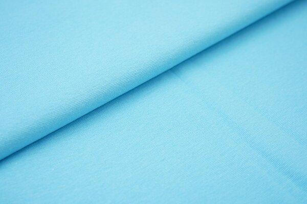 Bündchen glatt uni aqua blau