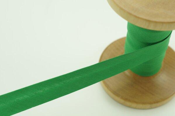 Schrägband Baumwolle 1,5 cm breit uni mittelgrün 1 m