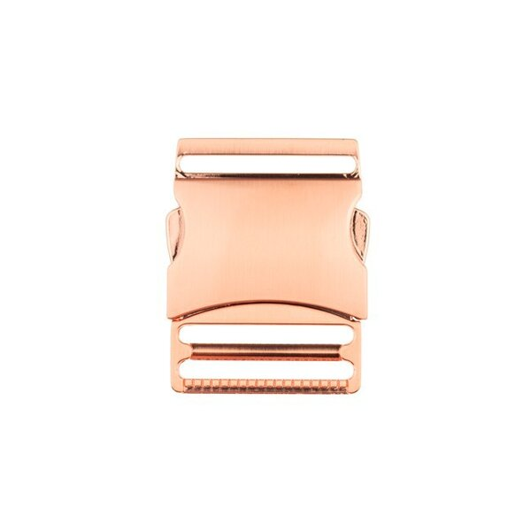 Metall Steckschließe 40 mm kupfer roségold Steckschnalle Taschenverschluss