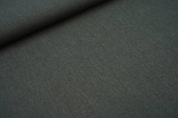 Canvas-Stoff Dekostoff Leinenoptik uni dunkelgrün